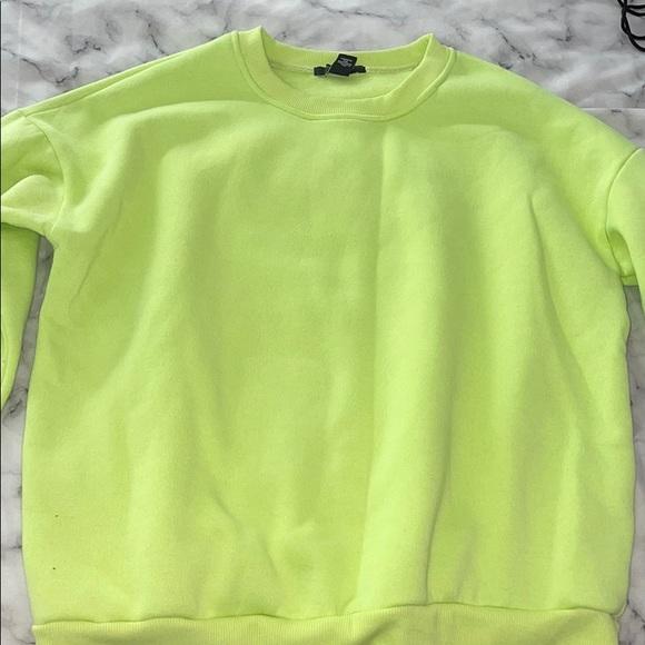 Bright neon green sweatshirt